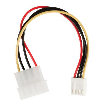 Valueline : Internal power adapter cable Molex male - FDD female 0.15 m multicolour - Zwart, Rood, Wit, Geel