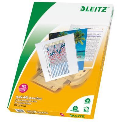 Esselte laminatorhoes: Warm lamineerhoezen EVA*, A3 125 micron - Transparant