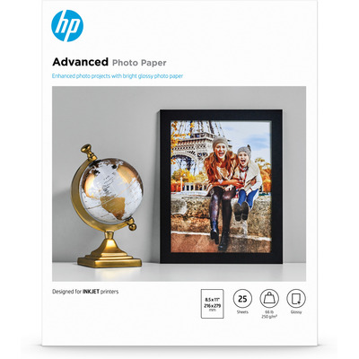 HP Advanced Glossy fotopapier - Wit