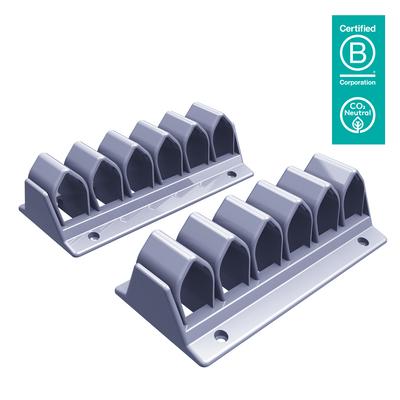 Dataflex Addit kabelgolf 302, zilver Kabelklem