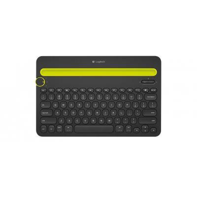 Logitech Bluetooth Multi-Device Keyboard K480 - QWERTY Mobile device keyboard - Zwart, Geel