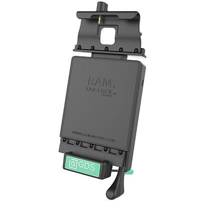 RAM Mounts RAM-GDS-DOCKL-V2-SAM35-AUD1U Mobile device dock station - Zwart, Groen