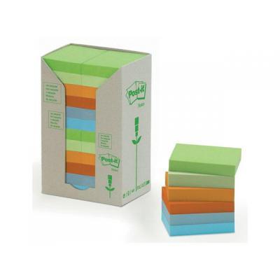Post-It Notitieblok recycled 38x51mm rainbow/p24 zelfklevend notitiepapier