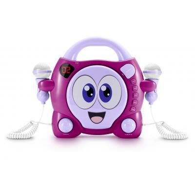 Bigben interactive CD speler: Big Ben, Portable CD Player met 2 Microphones - My Bubble (Roze / Paars)
