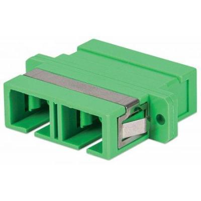 Intellinet SC/APC Adapter, Singlemode Duplex, Zirconia Sleeve, Green Fiber optic adapter - Groen