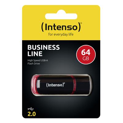 Intenso 64GB USB2.0 USB flash drive - Zwart, Rood