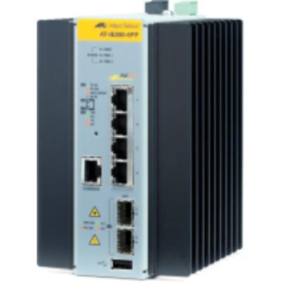 Allied Telesis AT-IE200-6FP-80 Switch - Zwart, Grijs