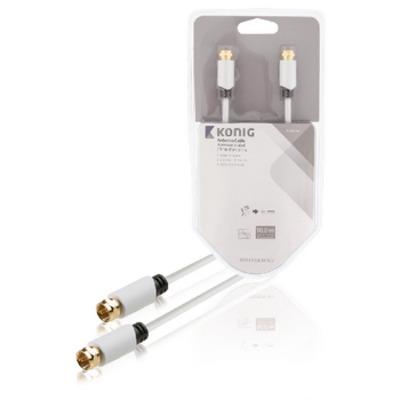 König KNS41000W100 Coax kabel - Wit