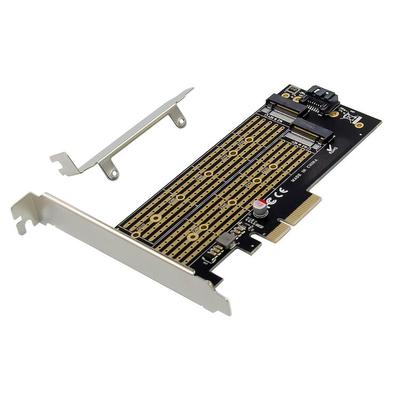 ProXtend PCIe X4 M.2 NGFF SSD SATA adapter Card Interfaceadapter - Zilver,Zwart,Goud