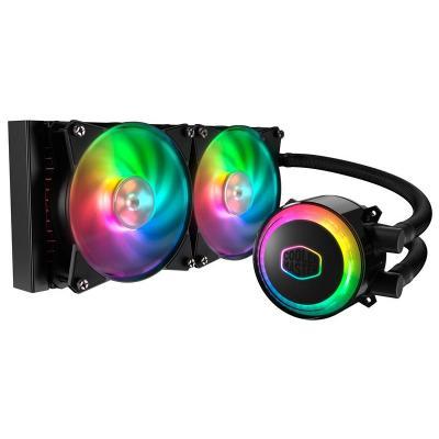 Cooler master water & freon koeling: MASTERLIQUID ML240R RGB - Zwart