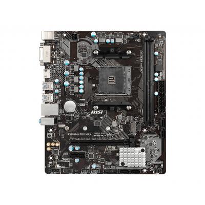 MSI m-ATX, AM4, AMD® A320, 2x DDR4 Dual, LAN, 4 x SATAIII, 6 x USB 2.0, 6 x USB 3.2 Moederbord