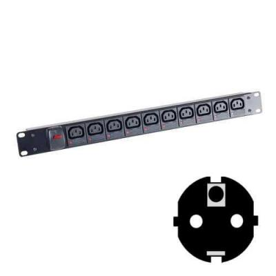 Black Box Individually Fused C13 Power Strips Energiedistributie - Zwart