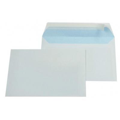 Gallery envelop: Ft 114 x 162 mm (C6) strip, blauwe binnenzijde - Wit