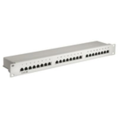 """Microconnect patch panel: 48.26 cm (19 """") , CAT.5e, 24 ports - Grijs"""