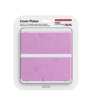 Nintendo portable game console case: New 3DS Cover Plate 011 - Roze