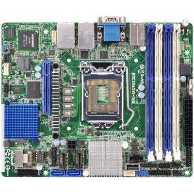 Asrock server/werkstation moederbord: Mini ITX, H3 LGA 1150, Intel C224, 4 x DIMM DDR3 ECC, 1 x PCIe 3.0 x8, 4 x SATA3, .....
