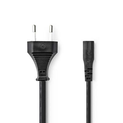 Nedis Power Cable, Euro Plug - IEC-320-C1, 3.0 m, Black Electriciteitssnoer - Zwart