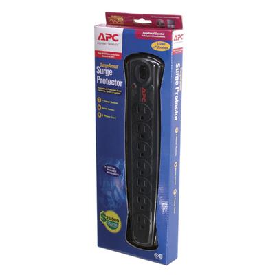 APC Essential SurgeArrest, 7 outlet Surge protector - Zwart