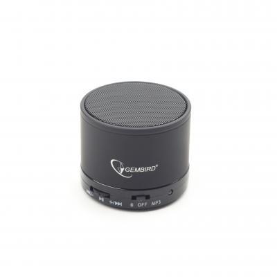 Gembird draagbare luidspreker: Bluetooth v.2.1 + EDR, MicroUSB, 10 m - Zwart