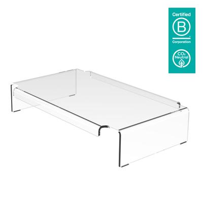 Dataflex Addit monitorverhoger 900 Multimedia kar & stand - Transparant