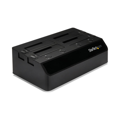 StarTech.com USB 3.0 naar SATA 6 Gbps hard drive docking station met 4 bays, UASP & dubbele ventilatoren .....