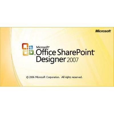 Microsoft desktop publishing: Office SharePoint Designer 2007, WIN, 1u, UPG, CD, NOR