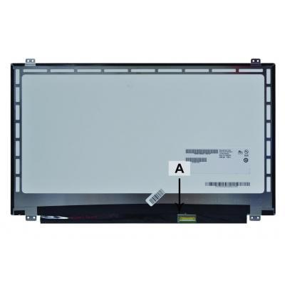 "2-power notebook reserve-onderdeel: 39.624 cm (15.6 "") WXGA 1366x768 HD LED Glossy - Wit"