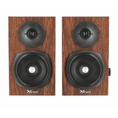 Trust 24W/12 Watt RMS, 20-20.000 Hz, 4 Ohm, 3.5mm, USB 5V, 1.4m Kabel, 1.24kg Speaker - Zwart, Hout
