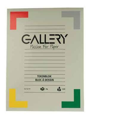 Gallery tekenpapier: TEKENBLOK 120GR 24X32  24BL.