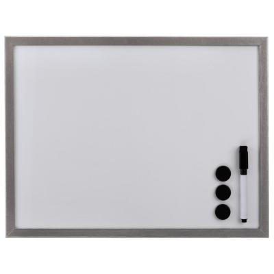 Hama magnetisch bord: Whiteboard, 30 x 40 cm, wood, silver - Zilver, Wit