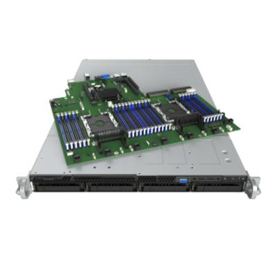 Intel R1304WFTYS Server barebone - Zwart, Zilver