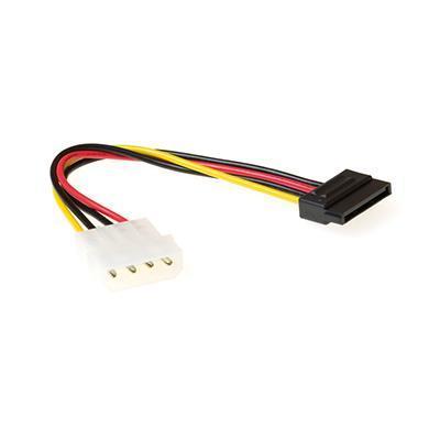 """Ewent ATA kabel: SATA 15 pin F - 5.25"""" M, 0.15m - Zwart, Rood, Wit, Geel"""