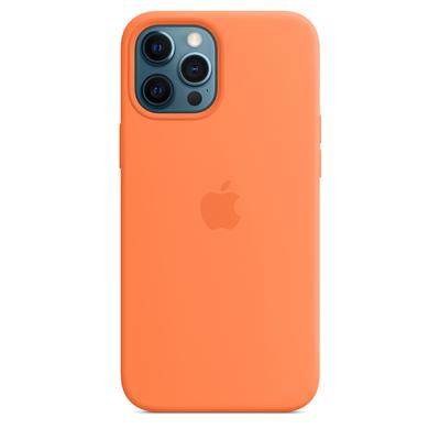 Apple Siliconenhoesje met MagSafe voor iPhone 12 Pro Max - Kumquat Mobile phone case - Oranje