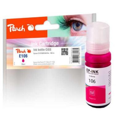 Peach Ink Bottle magenta compatible with Epson C13T00R340