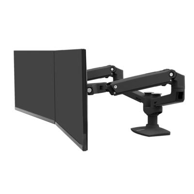 Ergotron LX Series Dual Side-by-Side Arm (matte black) Monitorarm - Zwart