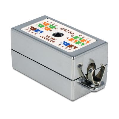 DeLOCK Junction Box for network cable Cat.6A LSA toolless Elektrische aansluitkast - Zilver