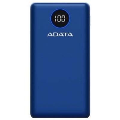 ADATA P20000QCD Powerbank - Blauw