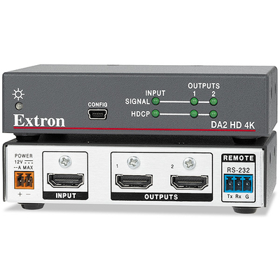 Extron HDMI DA2 HD 4K (Two Output HDMI DA) Video-lijnaccessoire - Zwart