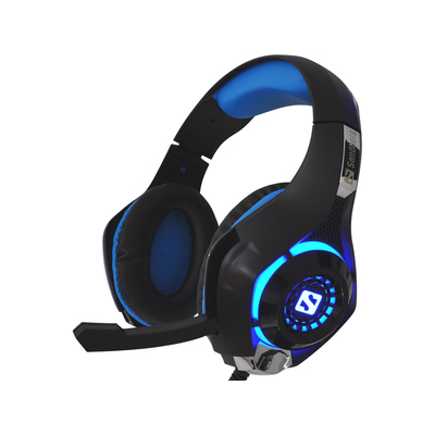 Sandberg headset: Twister Headset - Zwart, Blauw
