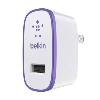 Belkin oplader: Home Charger 2.1 Amp Purple - Paars, Wit