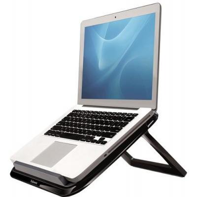 Fellowes notebooksteun: Quick Lift laptopstandaard, zwart - Zwart, Grijs