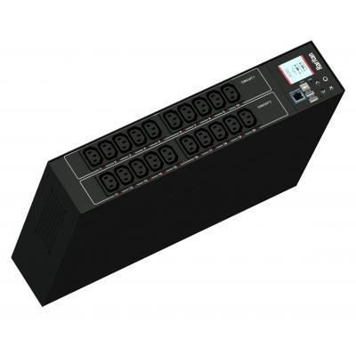 Raritan 1PH, 230V AC, 32A, 20 outlets: Energiedistributie - Zwart