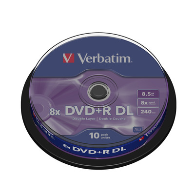 Verbatim DVD+R Double Layer Matt Silver 8x, 10pcs DVD