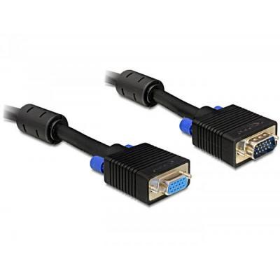 Delock VGA kabel : 10m VGA Cable - Zwart