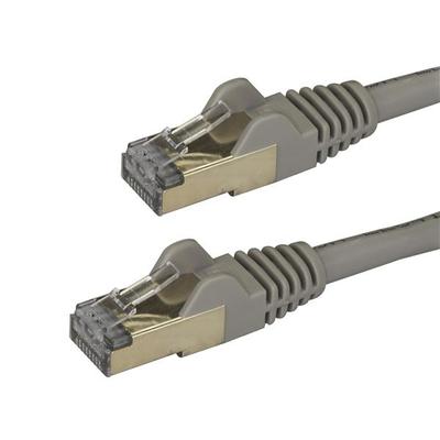StarTech.com 2 m grijs Cat6a Ethernet shielded (STP) Cat6a patchkabel Cat 6a Netwerkkabel
