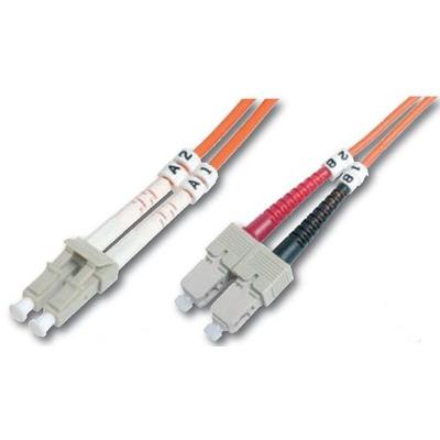 """Digitus Fiber Optic Patch Cord, Duplex, LC/SC MultiMode, OM1, 62.5/125µ"""", 1.0m Fiber optic kabel - Oranje"""