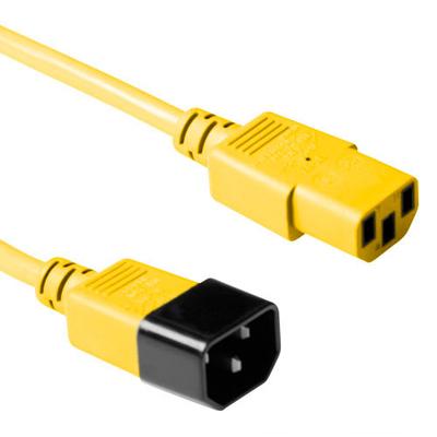 ACT C13 - C14, 1.20m Electriciteitssnoer - Geel