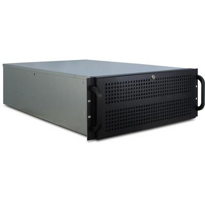 Inter-Tech IPC 4U-4129-N Behuizing - Zwart, Grijs