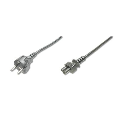 Digitus Power Cord, CEE 7/7 (Typ-F) - C5 M/V, H05VV-F3G Electriciteitssnoer - Zwart