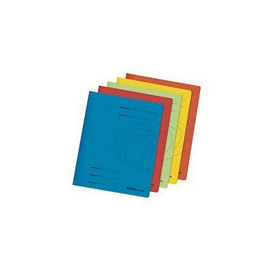 Herlitz karton: Flat file A4 cardboard int.ac., 5 pcs. - Multi kleuren